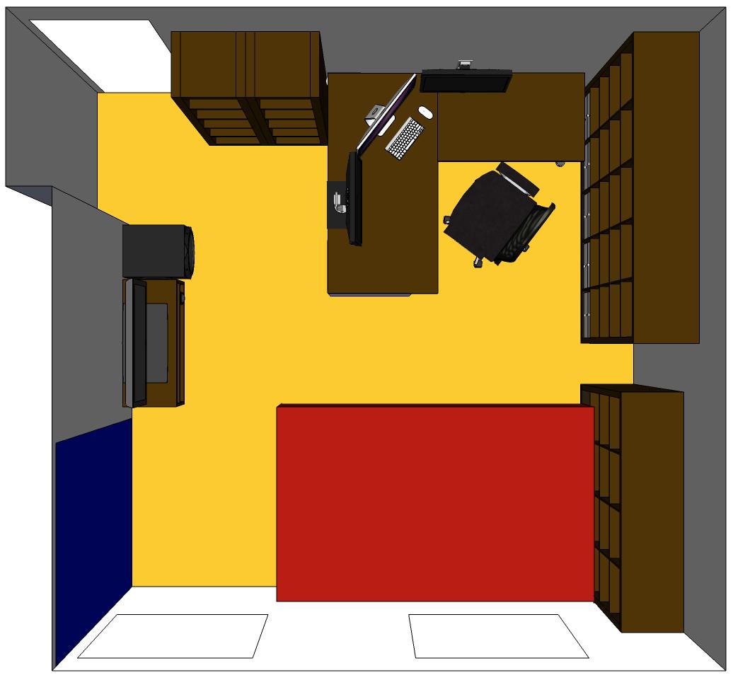 Home office/Bedroom beta 1 top view